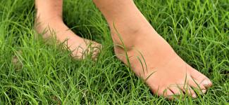 barefooting camminare a piedi nudi