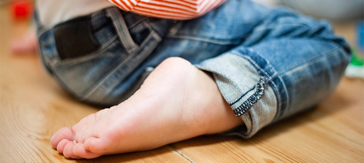 il piede del bambino, le patologie